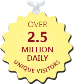 Over 2.5 million daily unique visitors