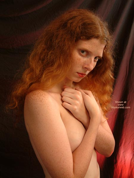 Pic #1 - Red Hair  Freckles - Redhead, Standing , Red Hair  Freckles, Covering Tits, Redhead, Standing