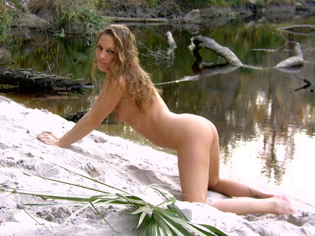 Pic #1 - Cute Butt On A Beach - Blonde Hair , Cute Butt On A Beach, Small Cute Tits, Curly Blonde Hair, Waiting For Doggy, Knees In Sand Nude Profile