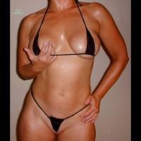 Wife In Black Micro Bikini
