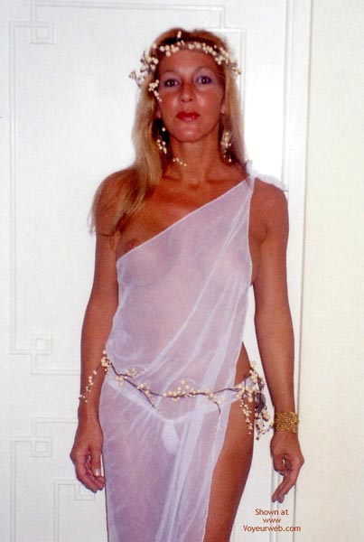 Pic #1 - Party Timers - Blonde Hair, G String, Nipples, See Through , Party Timers, See Through, G String, Nipple Peek, See Thru Toga, See Thru Fairy, Blonde, Toga, Garlands