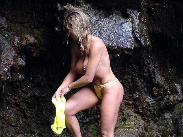 Pic #3 - Shell at Waimoka Falls