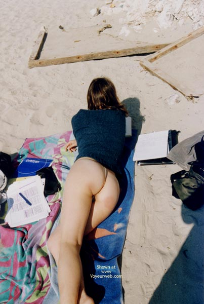 Pic #5 - Transparent Thong On The Beach