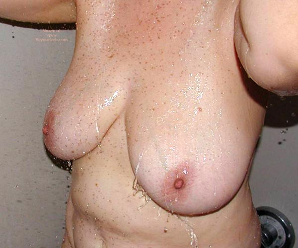 Pic #3 - Hard Nipples In The Shower