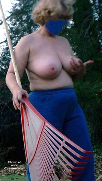 Pic #3 - Wife Does Topless Yard Work