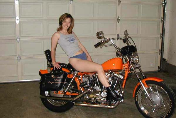 Pic #2 - Luv2bnude and The Harley