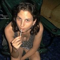 Ali Sucking On A Lolipop