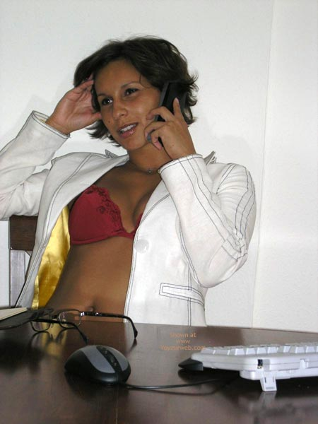 Pic #2 - Justine At The Office