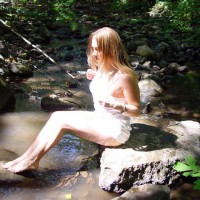 Scout Naked in The River 2