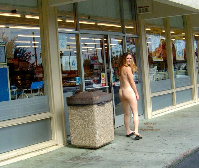 Pic #8 - Amber's First Time Nude in Public