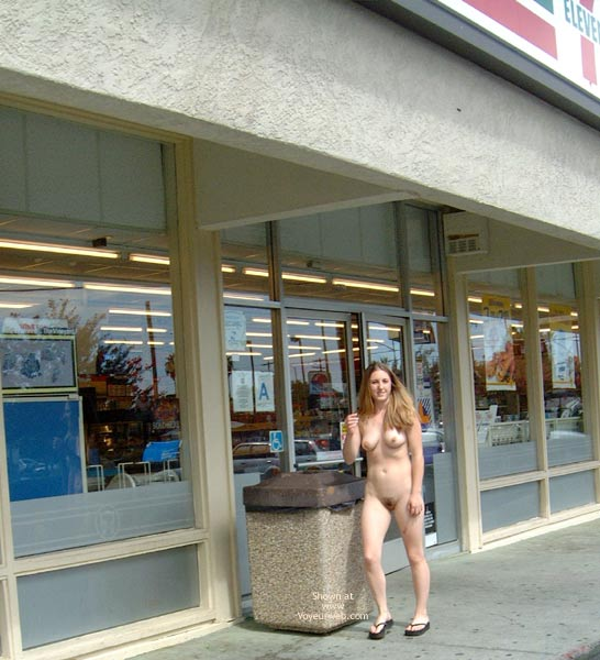 Pic #9 - Amber's First Time Nude in Public
