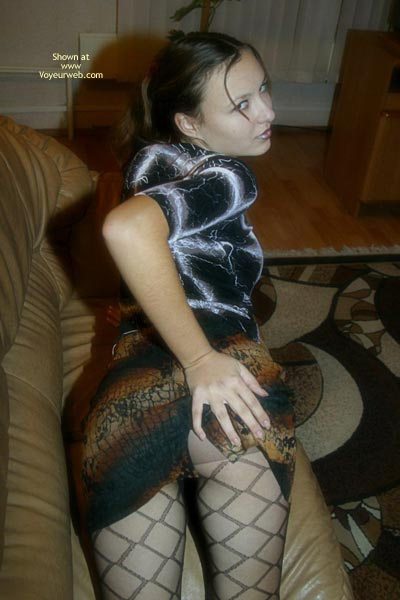 Pic #4 - Stockings On Pretty Ass