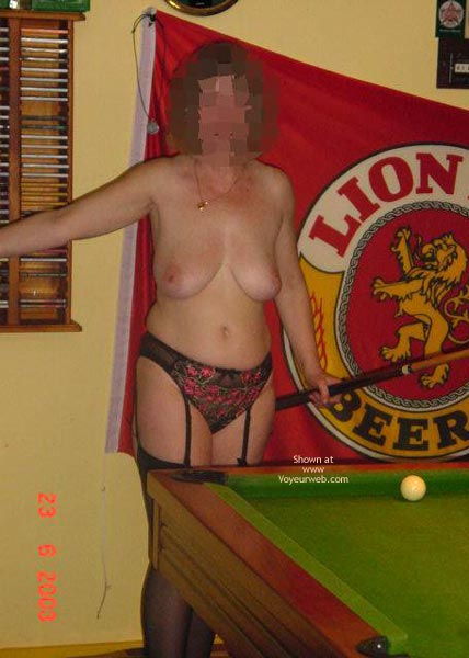 Pic #8 - Tigerlady and Friend Play Pool 1