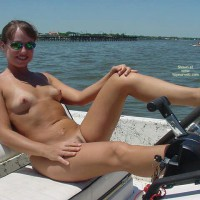 Naked In Boat - Landing Strip, Nude In Public, Sunglasses, Tan Lines