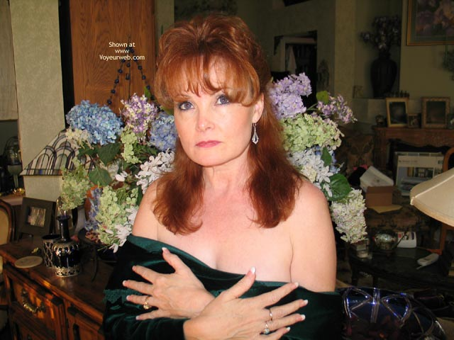 Pic #1 - Redhead Dropping Her Bodice , Redhead Dropping Her Bodice, Hands On Boobs, Redhead  Covered Up
