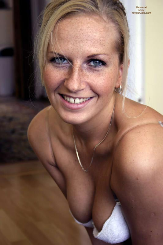 Pic #1 - Sexy Speckles - Blue Eyes, Sexy Face, Sexy Wife , Pretty Smile, Cute Blond, Eyes And Mouth Displaying Desire, Gold Earing, Portrait Face, Blue Eyed Blond Smile, Eyes Full Of Promise, Beautiful, Freckle Face, Sexy Eyes