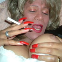 Lady Loves To Smoke......and