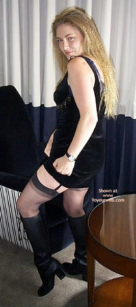 Pic #3 - Lydia In Black Dress And Stockings