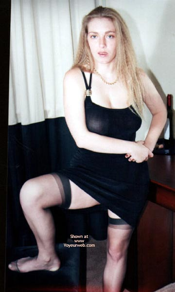 Pic #5 - Lydia In Black Dress And Stockings