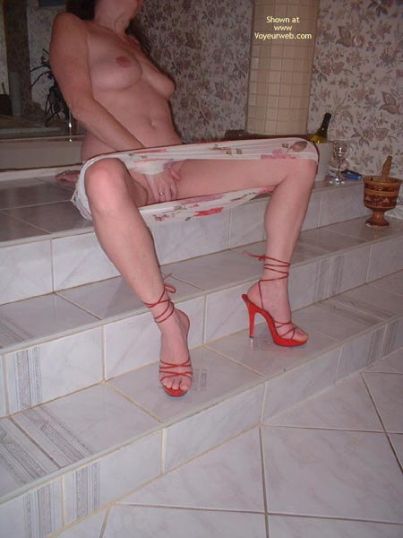 Pic #4 - My Beautifull Wife Red Stilletos