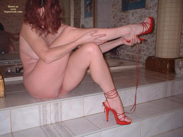 Pic #9 - My Beautifull Wife Red Stilletos