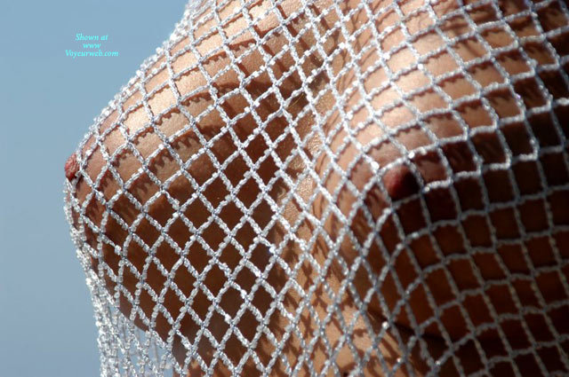 Pic #1 - Closeup Of Firm Tits Under Braless Fishnet Blouse - Erect Nipples, Firm Tits, Natural Tits , Fishnet Blouse Of Beads, Fishnet Over Nipples, Tanned Boobs, Beaded, 1/2 Inch Open Diamond Net Blouse Braless, Close Up, Only Breasts, Fishnet Boobs, Tanned Natural Tits