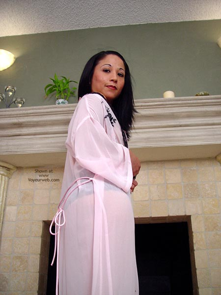 Pic #2 - Sexy Robe, By The Fireplace