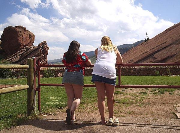 Pic #2 - *Gg Ddwife And Elly Miniskirt Walk