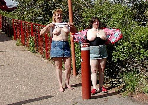 Pic #6 - *Gg Ddwife And Elly Miniskirt Walk