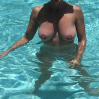 Topless In Pool