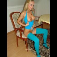 Turquois Stockings - Chair, Stockings