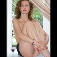 Naked Girl In White Window - Blue Eyes