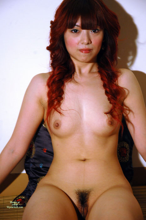 Pic #1 - Nude Asian Model - Dark Hair, Long Hair, Red Hair, Small Breasts, Trimmed Pussy, Naked Girl, Nude Amateur, Small Areolas , Long Dark Red Curled Hair, Full Face Full Body, Very Hairy Trimmed Pussy, Full Nude Frontal, Dark Eyes, Asian Heritage, Small Lt Brown Areolas, Red Lipstick, Naked Asian