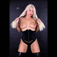 White Blonde With Pierced Tits - Big Tits, Blonde Hair, Long Hair, Pierced Nipples, Topless
