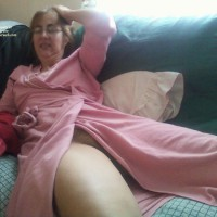 Kathy Relaxing On The Couch