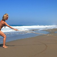 Beautiful Slim Blond Girlfriend Nude At The Beach - Blonde Hair, Small Breasts, Naked Girl, Nude Amateur, Sexy Girlfriend