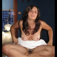 Nice Hairy Pussy - Brown Hair, Brunette Hair, Long Hair, Trimmed Pussy, Naked Girl, Nude Amateur