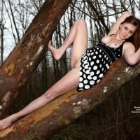 Tree Hugger - Brunette Hair, Long Hair, Perfect Tits, Red Hair, Naked Girl, Nude Amateur