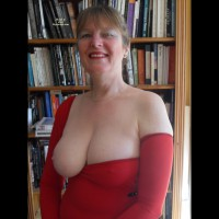 Topless Wife:Red Dress Rides Again