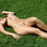 Public Show - Huge Tits, Landing Strip, Nude Outdoors, Tan Lines