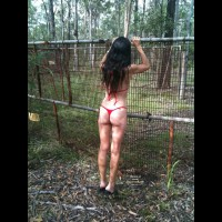 Nude Wife on heels:Jeni: Old Cattle Yard