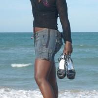 Nude Ex-Wife on heels:Heels At Playalinda (Nude Beach)