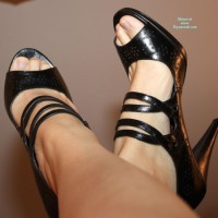 Bottomless Wife:*SA Sexy Black Shoes
