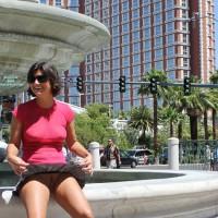 Amateur upskirt:Vegas - No Bra, No Panties, No Problem - Nude Upskirt, Upskirt No Panties, No Panties On