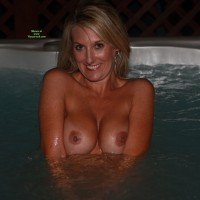 Smiling In Hottub Flashing Boobs - Blonde Hair, Flashing, Milf, Tan Lines, Topless, Naked Girl, Nude Amateur