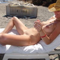 Shaved Nude In Beach Lounger - Shaved Pussy, Spread Legs, Beach Tits, Beach Voyeur, Naked Girl, Nude Amateur, Nude Wife, Spread Eagle