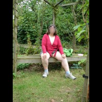 Topless Wife:In The Garden