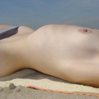 Topless Beach - Close Up, Erect Nipples, Laying Down, Topless Beach