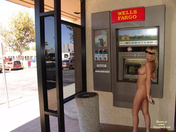 Pic #1 - Nude At Atm - Blonde Hair, Nude In Public , Nude At Atm, Bank Jackpot, Credit Or Debit, Blonde, Nude In Public, Nude On Public Street