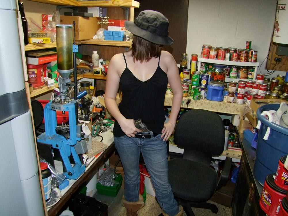 Pic #1 - She Likes Big Guns! , She Loves To Shoot Guns And The More She Shoots The Hornier She Gets! After A Day She Wanted To Learn To Reload Ammo And This Was The Result.